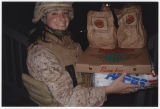 "[Combat pizza delivery,"" Iraq, circa 2007-2008]"