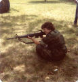 C.J. Scarlet with M16 rifle