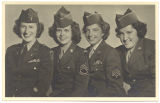 [Portrait of four WACs in Germany, 1946]