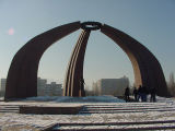 Victory Square in Kyrgyzstan