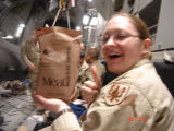 [Amanda D. Westfall on flight to Bagram Air Field, 2005]