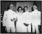[Andree Fifield with her ONI bosses at her wedding, 1945]
