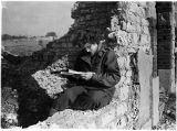 [Emma Dale Love in French ruins, 1944]