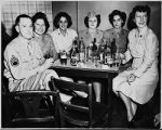 [Mildred Curtis Scott and friends at NCO Club, 1944]