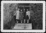 [Nurses posed in front of dorm, 1947]
