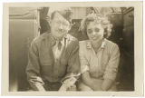 [Bernice Bonner and chaplain in Morocco, circa 1944]
