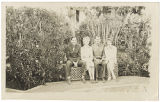[Red Cross workers in Moroccan garden, circa 1944]