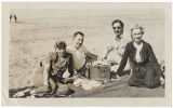 [Bernice Bonner and others on beach, circa 1944]
