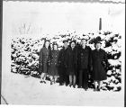 [WAVES and sailors in the snow, circa 1945]