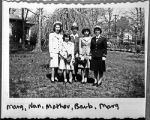 [Erma Hughes Kirkpatrick and family, circa 1945]