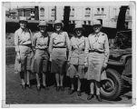 [WACs in front of a jeep, circa 1944]