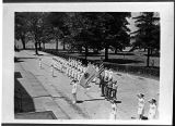 [Navy nurses at dress parade, circa 1945]