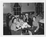 [WACs celebrate Halloween in the mess hall, 1943]