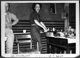 [Frances Bradsher Turner in kitchen, circa 1951]