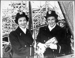 [Butler sisters at ship christening, 1943]