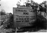 [Sign in Doba Dura, New Guinea, 1943]