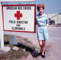[Linda Jones at the American Red Cross office in Uijongbu, South Korea, circa 1969]