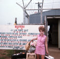 [Linda Jones at Kimpo Air Terminal, Seoul, South Korea, circa 1969]