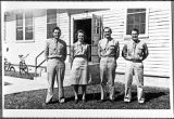 [WAAC and three army servicemenat Greenwood Army Air Base, 1944]
