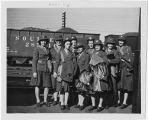 [WACs at train station, circa 1943]