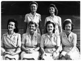 [Six nurses of the 176th station hospital in Saipan, circa 1945]
