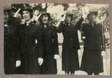 [Group of WAVES members saluting, May 1943]