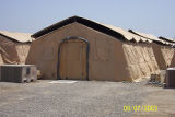 [Tent living quarters in Iraq, 2003]