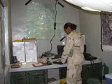 [Ingrid Ruffin at work in Iraq, circa 2003]