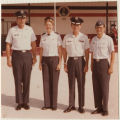 [Four Air Force officers at commissioning parade, 1978]