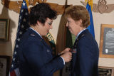 [Kathryn Wirkus receives Meritorious Service medal, circa 2005]