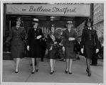 [Miss Armed Forces contestants walk abreast, 1966]