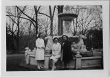 [Dietitians by fountain at Willow Glen Convalescence Center, 1945]