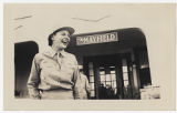 [Dorothy E. Wain outside of the Mayfield, circa 1943]