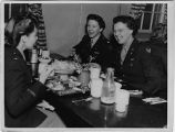 [Betty Etten Wiker at dining hall, Hill Field, Utah, circa 1944]