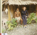 [Gayle Lewis with village elder, 1970]