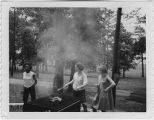 [WACs barbecuing, circa 1967]