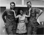[Dale Dempsey and two servicemen, 1970]
