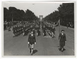 [WACs march along Champs-Elysees, 1945]