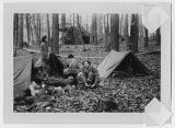 [Four WACs on bivouac, circa 1952]