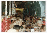 [Soldiers in transport plane, 1989]