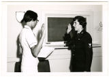 [Wendy Gellert reenlists, 1968]