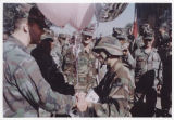 [Maria Felger Wayne receiving balloons for her Air Assault graduation, circa 1990]
