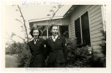 [Geneva Spratt Craig and friend pose in Williamsburg, Virginia, circa 1944]