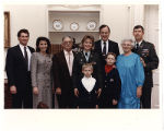 [Paula Trivette, family, and President George H. W. Bush, 1991]