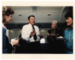 [Paula Trivette, President Ronald Reagan, and others on Air Force One, 1987]