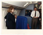 [Paula Trivette and President Ronald Reagan aboard Air Force One, 1988]