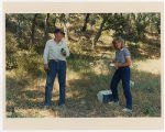 [Paula Trivette and President Ronald Reagan at his ranch, 1988]