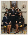 [Paula Trivette, President Ronald Reagan, and White House Medical Unit nurses, 1989]