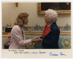 [Paula Trivette and First Lady Barbara Bush, 1990]