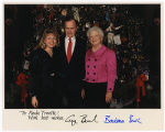 [Paula Trivette, President George H. W. Bush, and First Lady Barbara Bush, 1990]